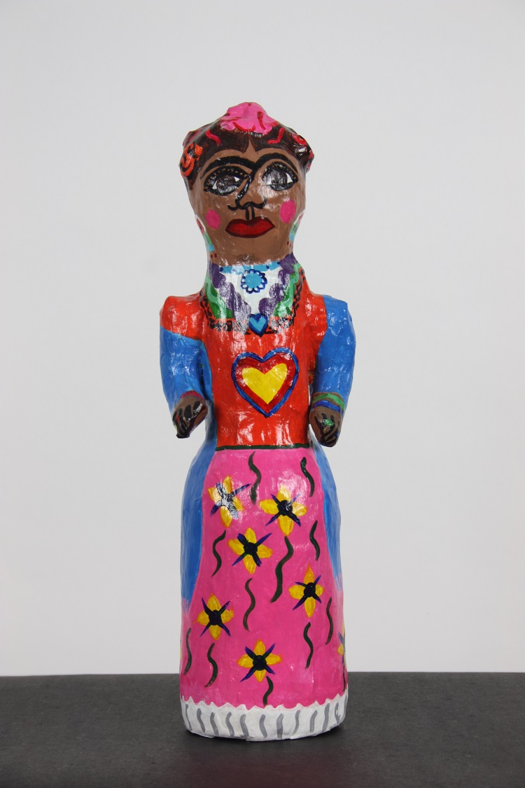 Frida Kahlo Papier Mache Doll by Anna-Maria Bribiesca