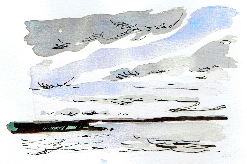 Andrew Ockleston Line and Wash Artwork