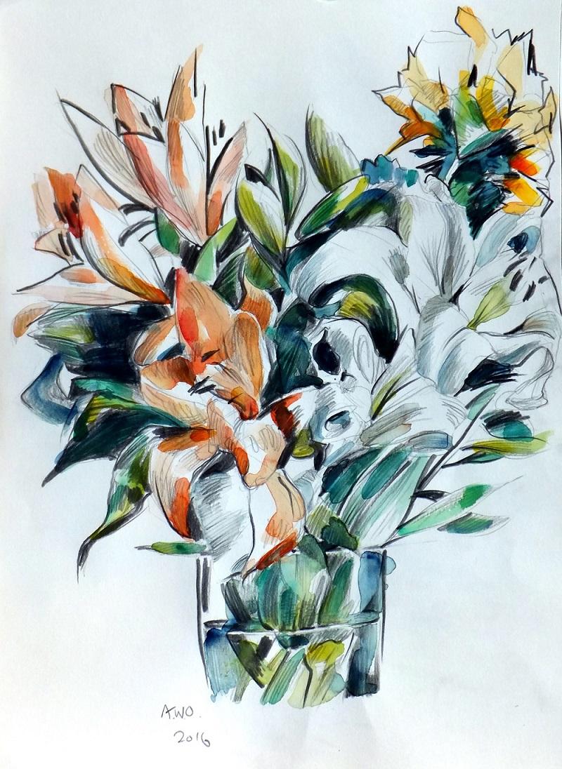 Andrew Ockleston Watercolour Flowers