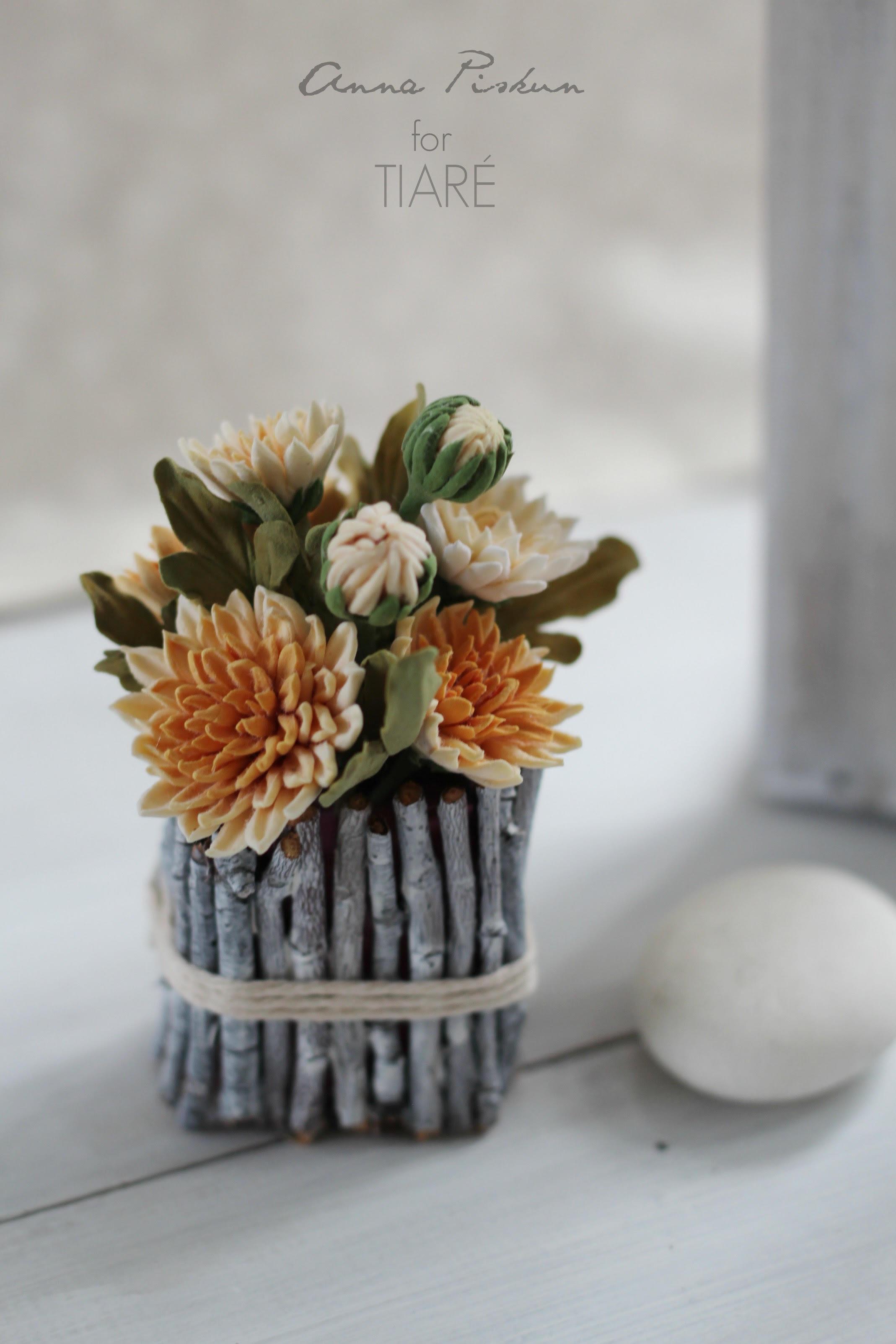 Anna Piskun Polymer Clay Flower Arrangement