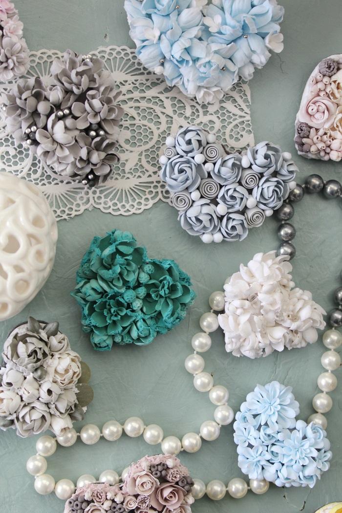 Anna Piskun Polymer Clay Brooches