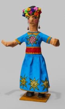 Frida Kahlo Papier Mache Doll