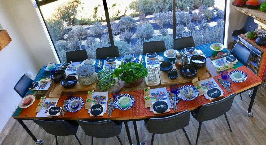 A set table ready for Garden to Table experience