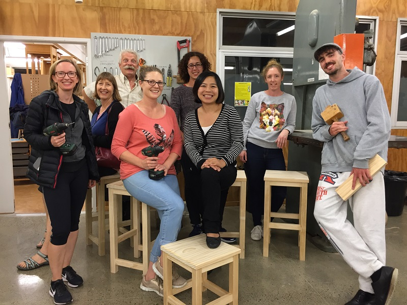Woodworking for Beginners Completed Stools