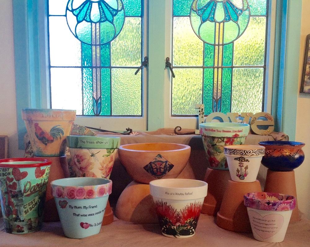 Lynn Walter Decoupage Pots