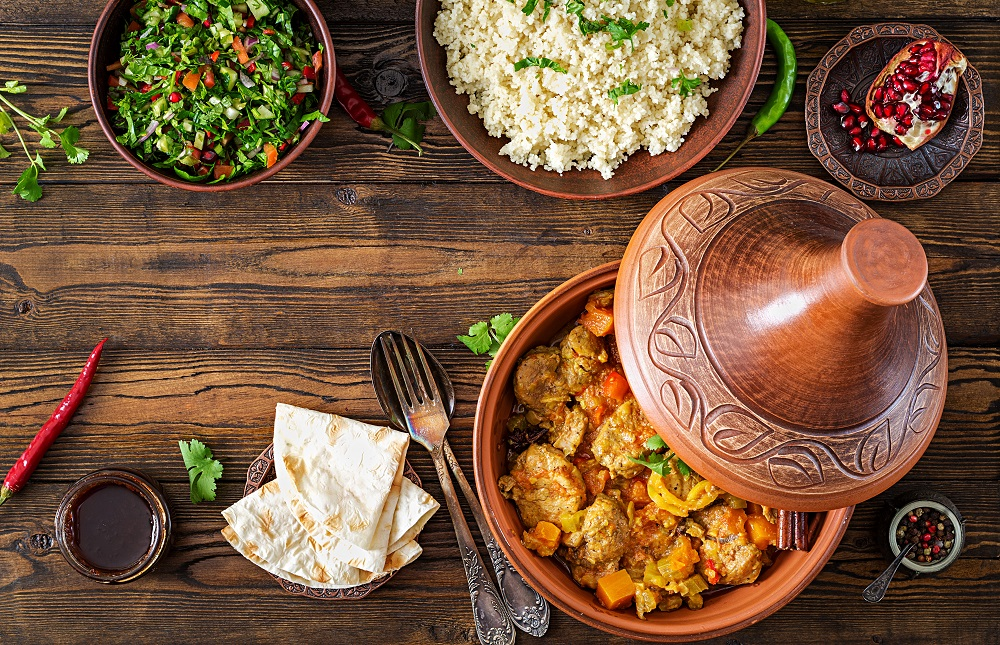 Moroccan Tangine and accompaniments