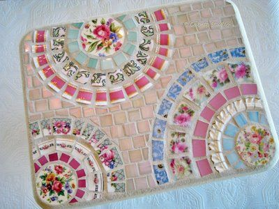 Vintage Crockery Mosaic Artwork