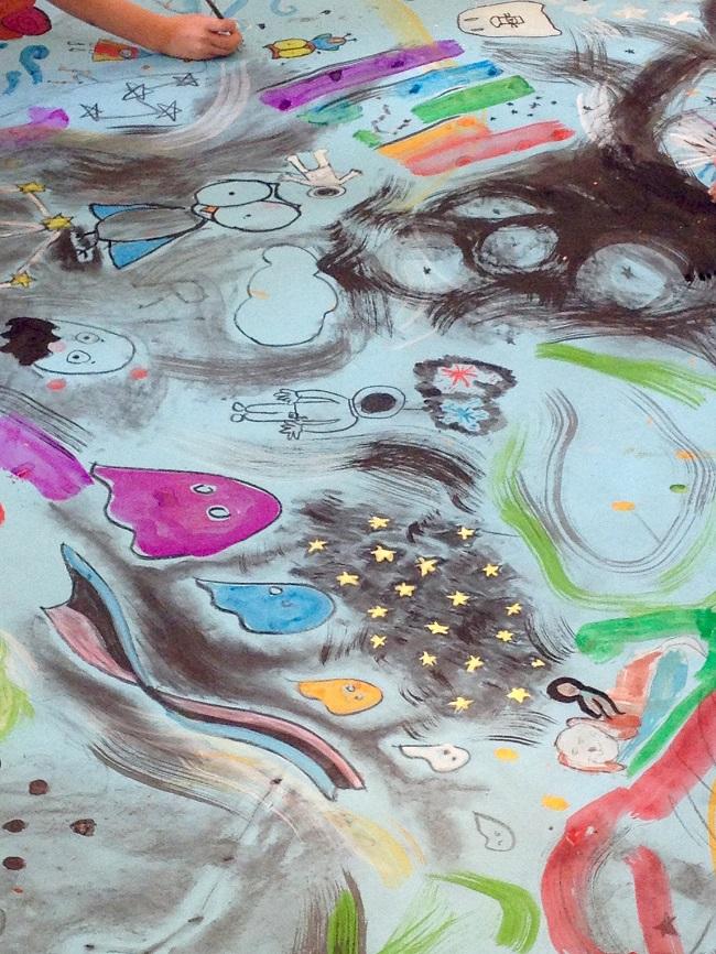 Children's Art Making Painting Power
