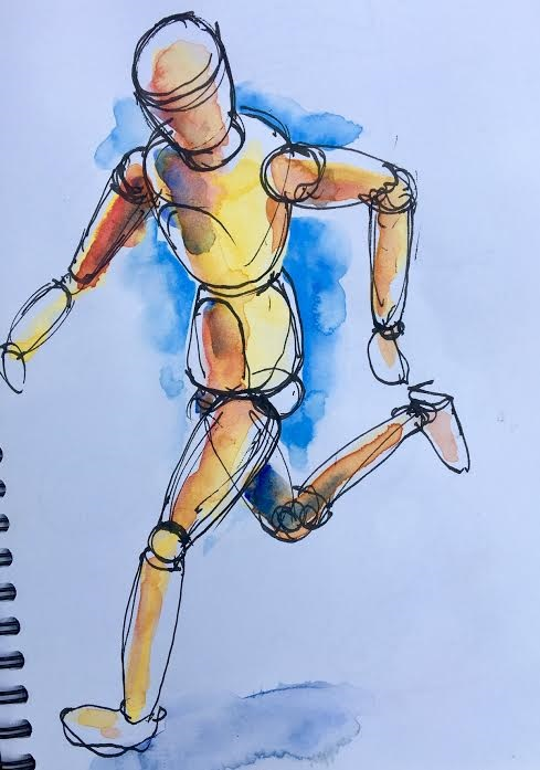 Running figure from Figure Sketching with Tony McNeight at Selwyn Community Education