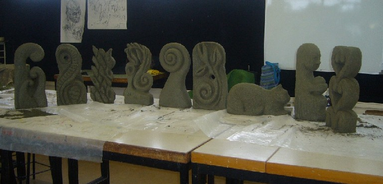 Some stone creations from Term 1 2011 class